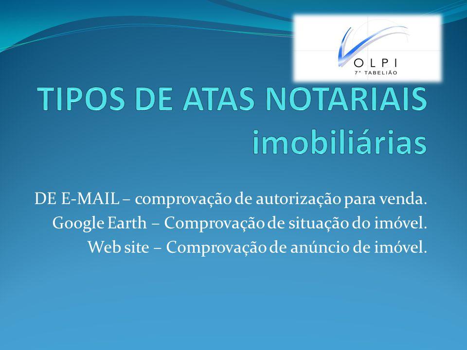 TIPOS DE ATAS NOTARIAIS imobiliárias
