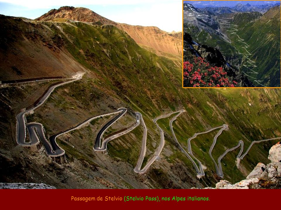 Passagem de Stelvio (Stelvio Pass), nos Alpes italianos.