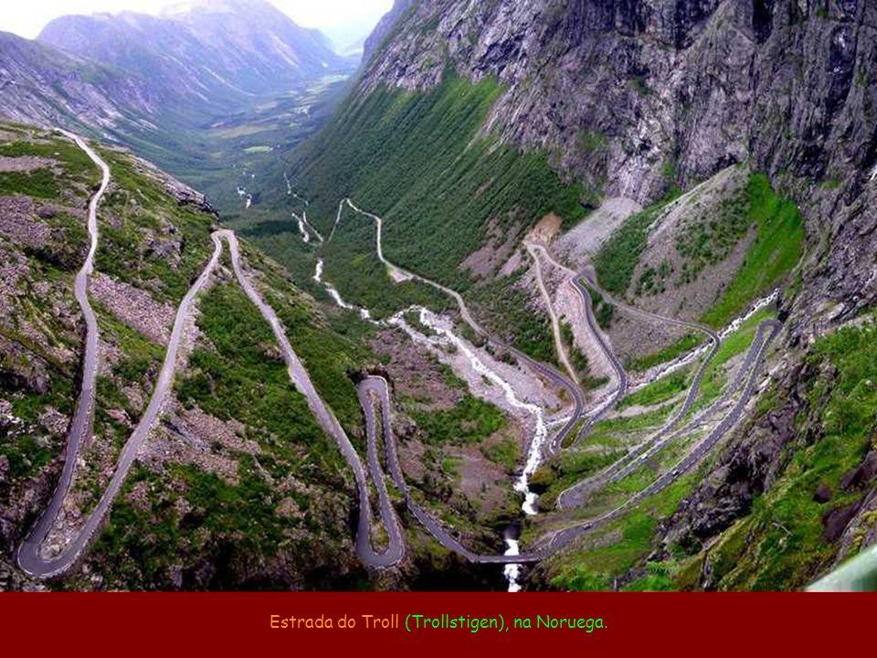 Estrada do Troll (Trollstigen), na Noruega.