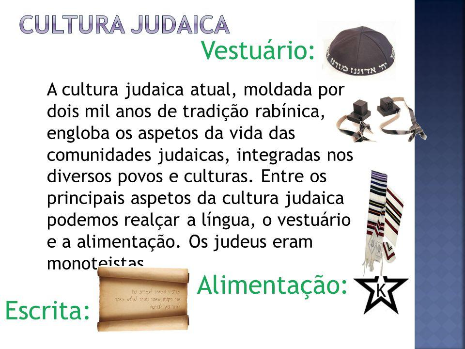 Vestuário: Alimentação: Escrita: Cultura judaica