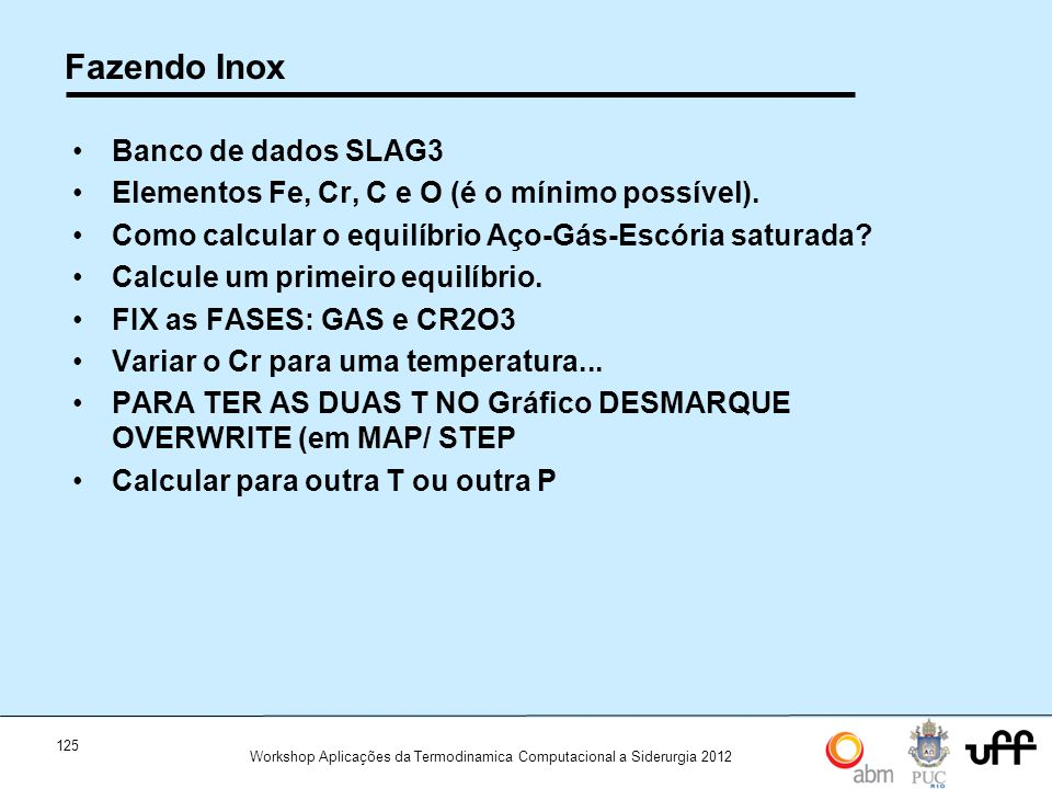 Fazendo Inox Banco de dados SLAG3