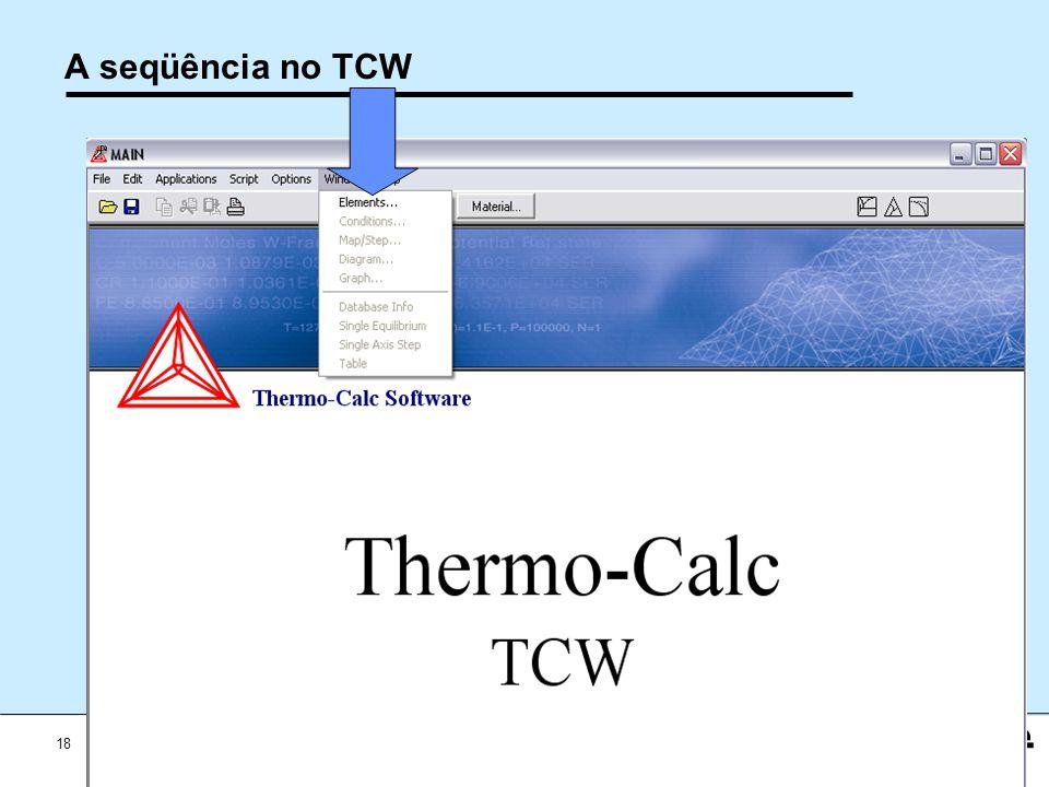 A seqüência no TCW