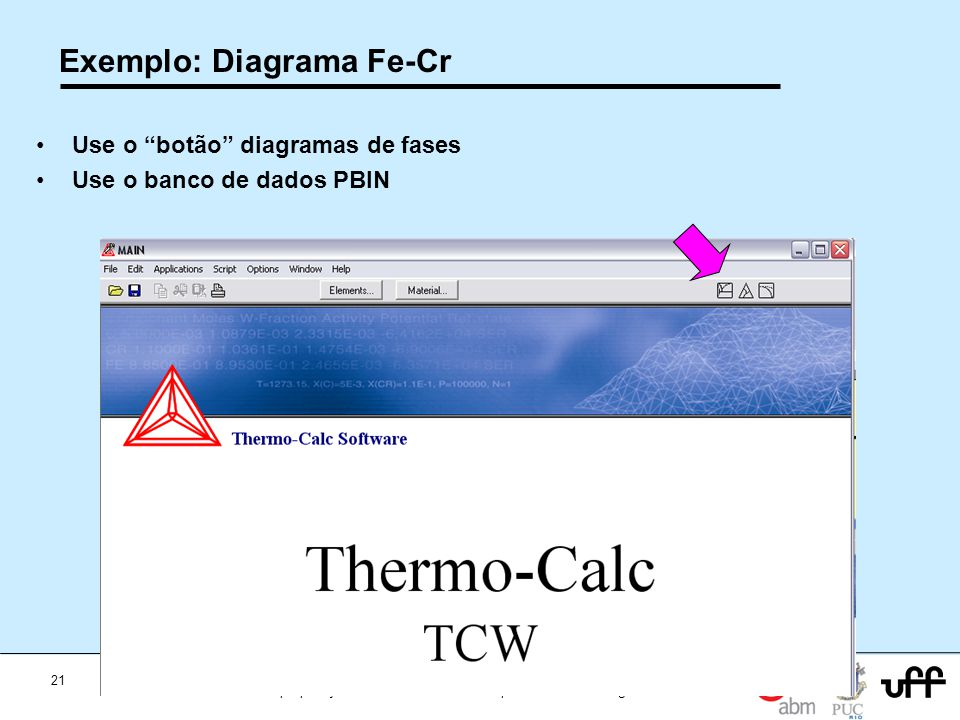 Exemplo: Diagrama Fe-Cr