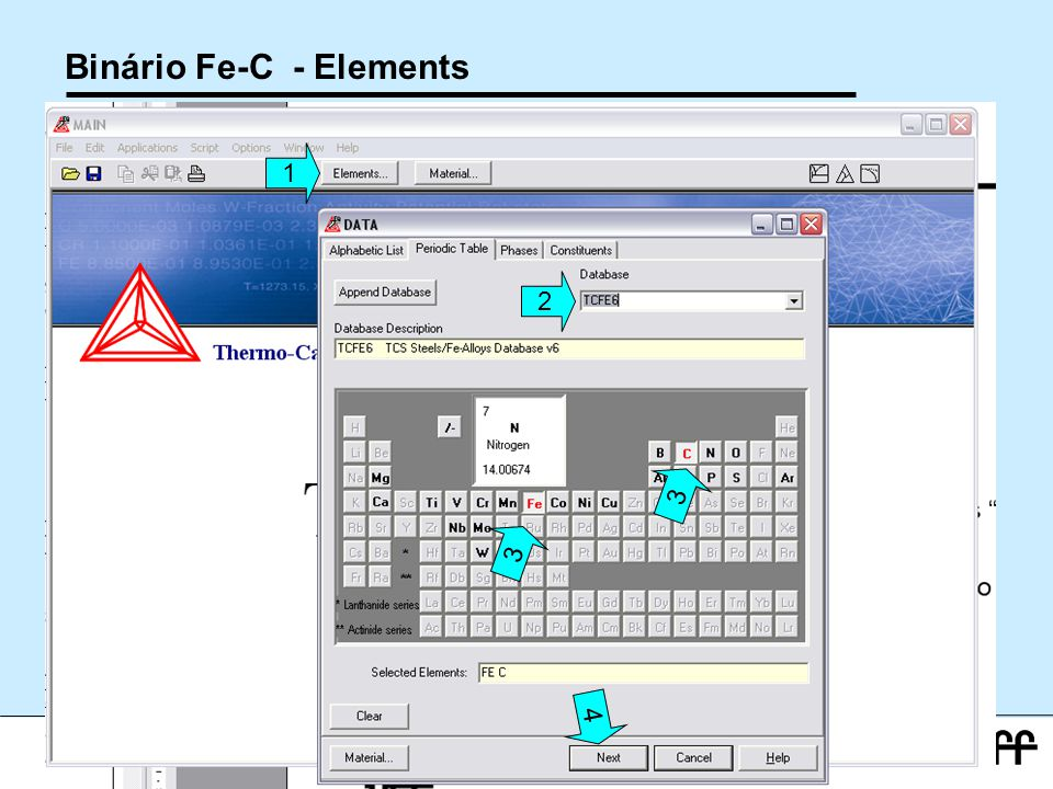 Binário Fe-C - Elements