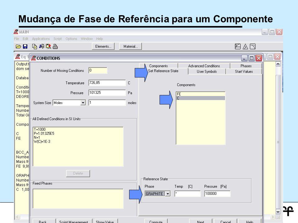 Mudança de Fase de Referência para um Componente