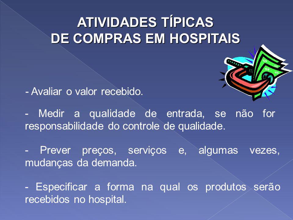 DE COMPRAS EM HOSPITAIS