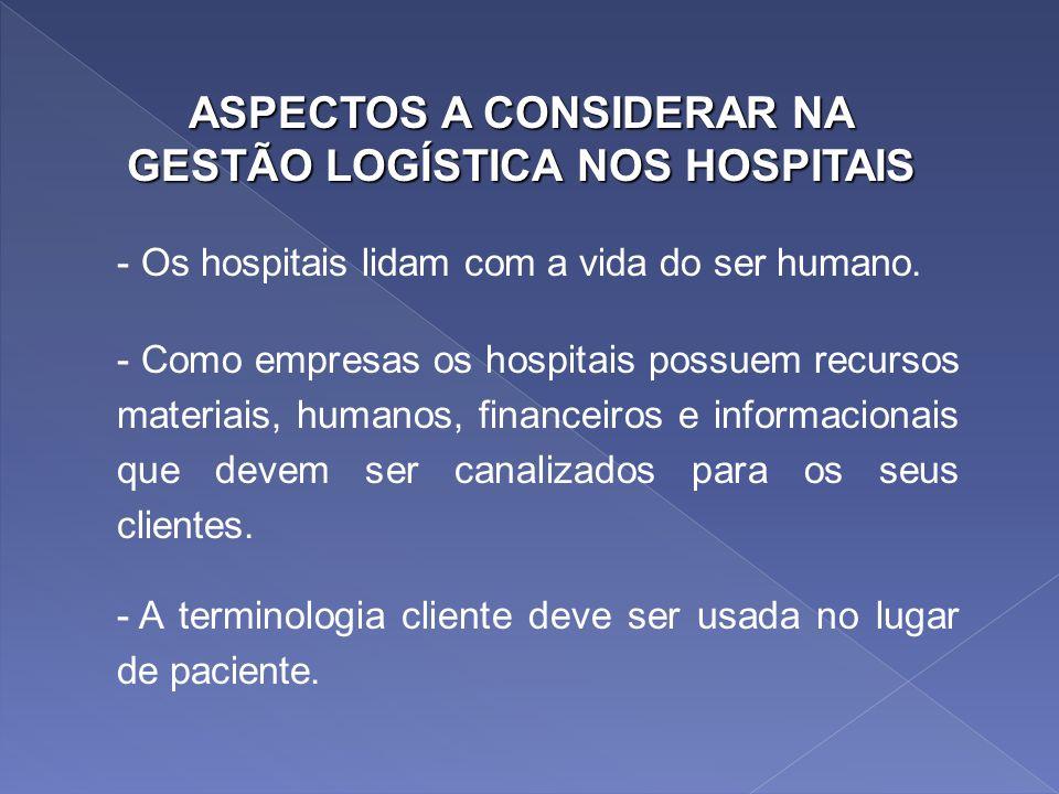 ASPECTOS A CONSIDERAR NA GESTÃO LOGÍSTICA NOS HOSPITAIS