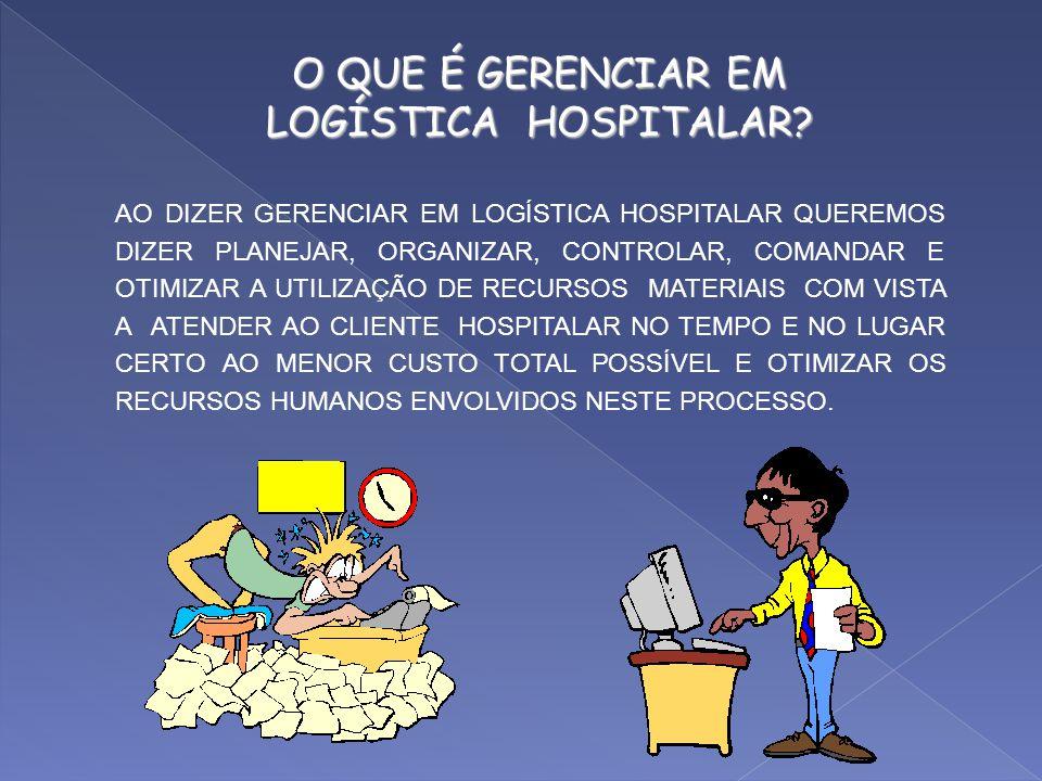 O QUE É GERENCIAR EM LOGÍSTICA HOSPITALAR