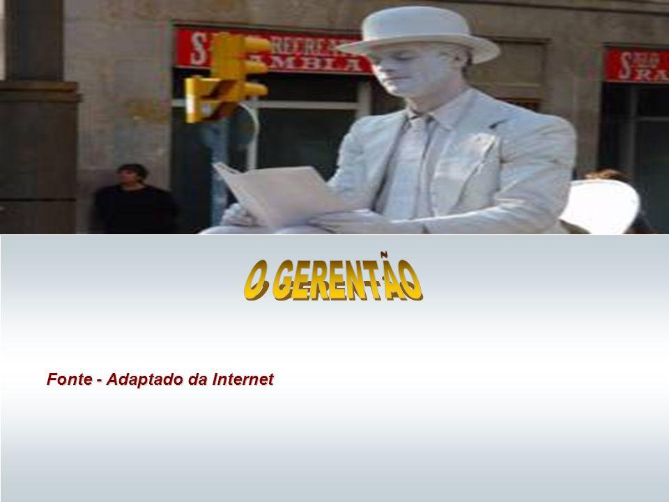O GERENTÃO Fonte - Adaptado da Internet