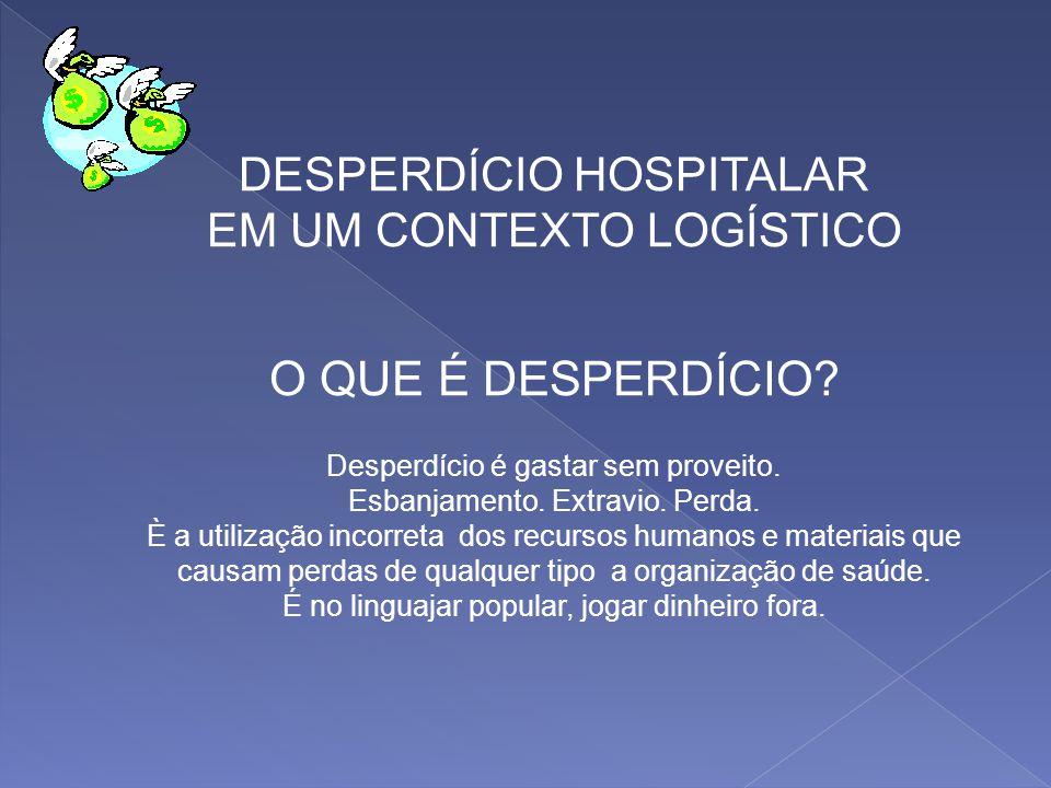 O QUE É DESPERDÍCIO DESPERDÍCIO HOSPITALAR EM UM CONTEXTO LOGÍSTICO