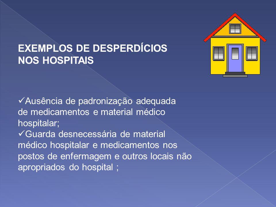 EXEMPLOS DE DESPERDÍCIOS NOS HOSPITAIS