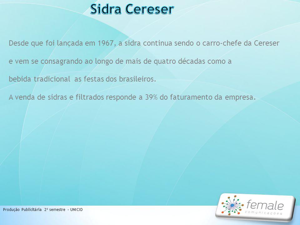 Sidra Cereser Desde que foi lançada em 1967, a sidra continua sendo o carro-chefe da Cereser.