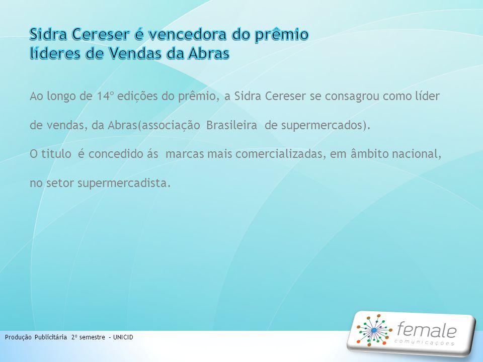 Sidra Cereser é vencedora do prêmio líderes de Vendas da Abras