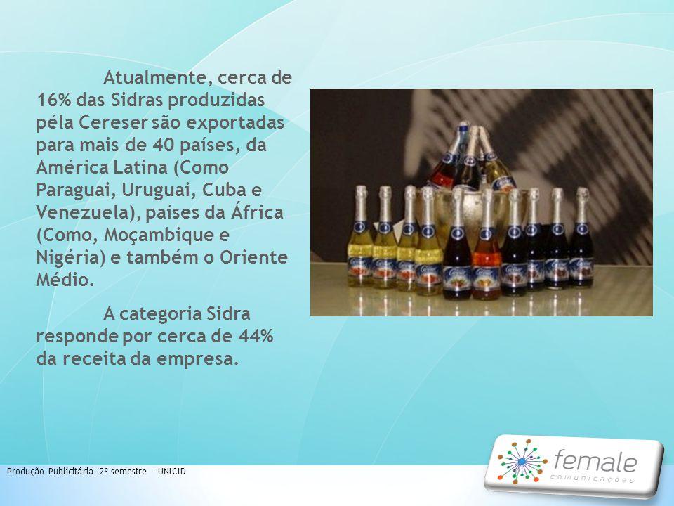 A categoria Sidra responde por cerca de 44% da receita da empresa.