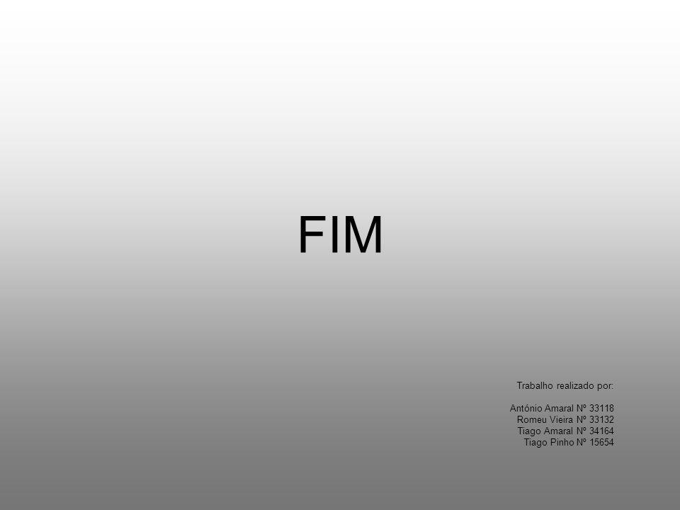 FIM Trabalho realizado por: António Amaral Nº 33118