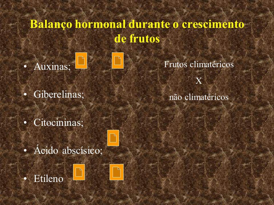 Balanço hormonal durante o crescimento de frutos