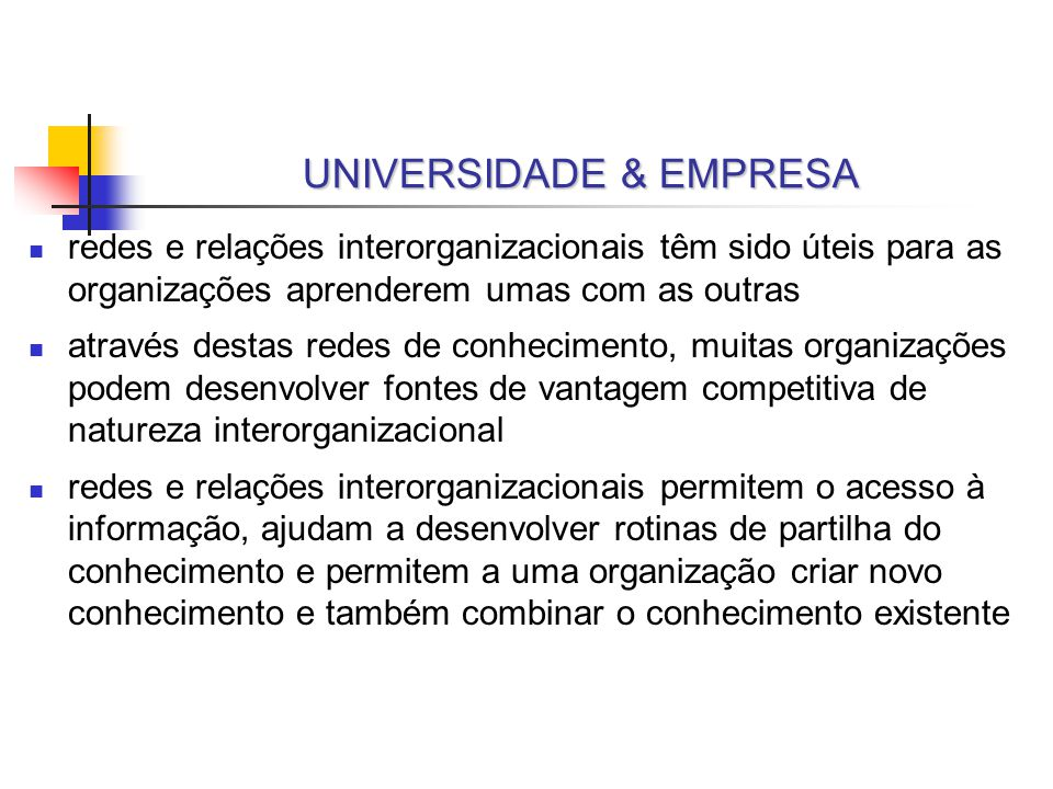 UNIVERSIDADE & EMPRESA