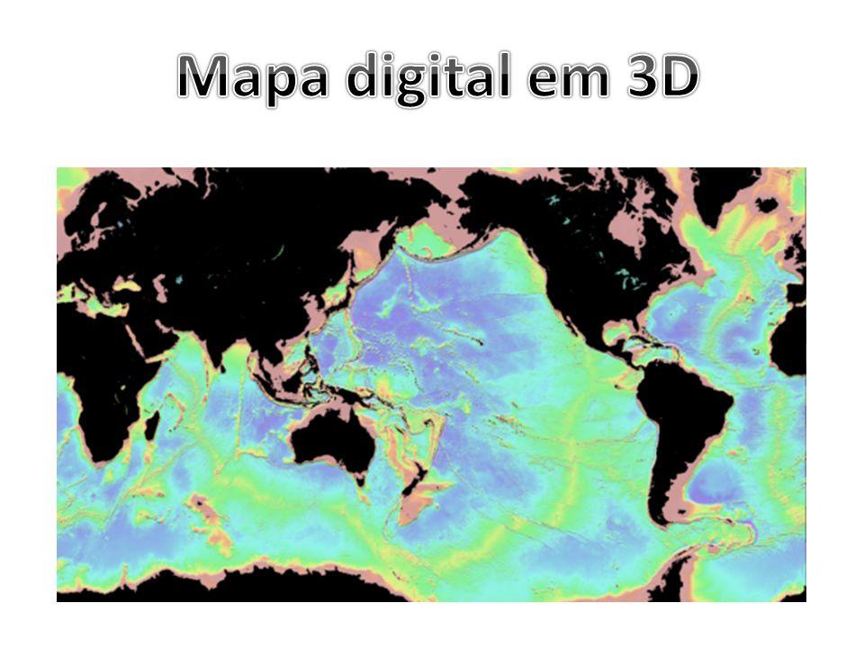 Mapa digital em 3D