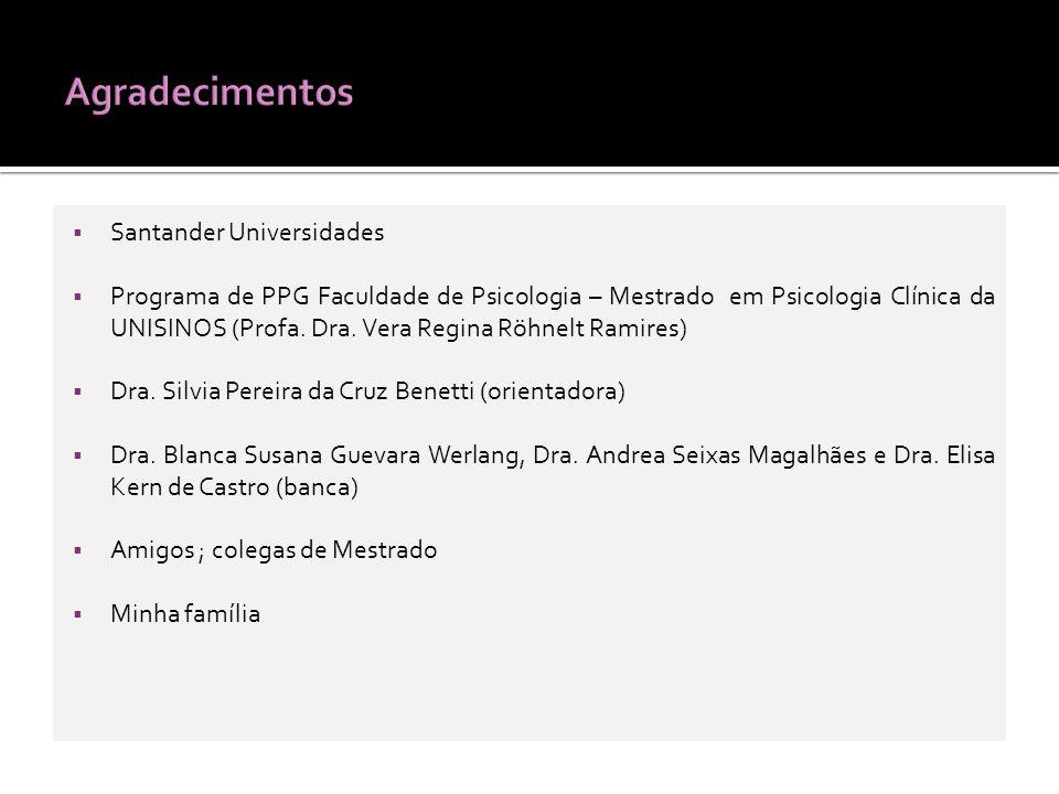 Agradecimentos Santander Universidades