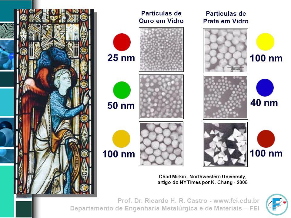 Partículas de Ouro em Vidro Partículas de Prata em Vidro