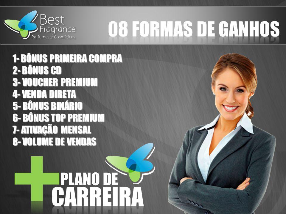 CARREIRA 08 FORMAS DE GANHOS PLANO DE 1- BÔNUS PRIMEIRA COMPRA
