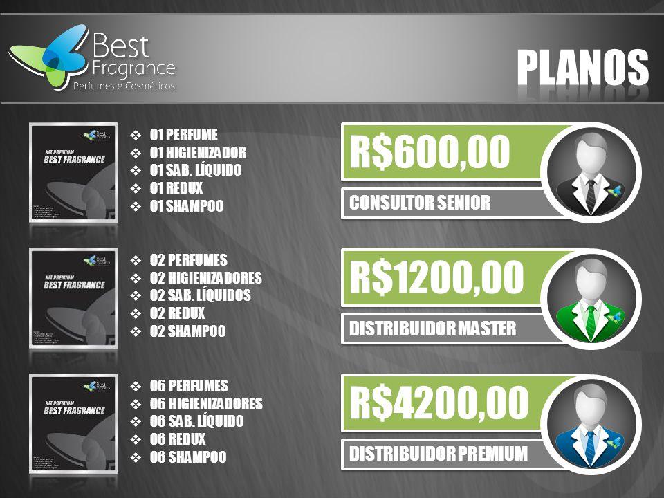 PLANOS R$600,00 R$1200,00 R$4200,00 CONSULTOR SENIOR