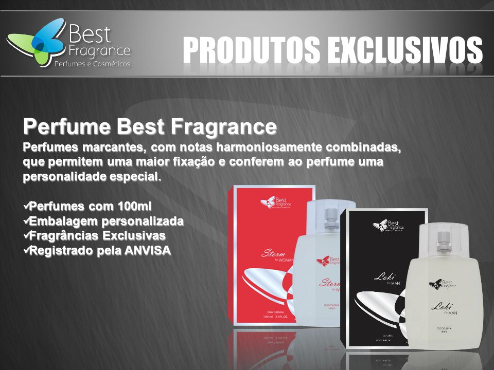 PRODUTOS EXCLUSIVOS Perfume Best Fragrance