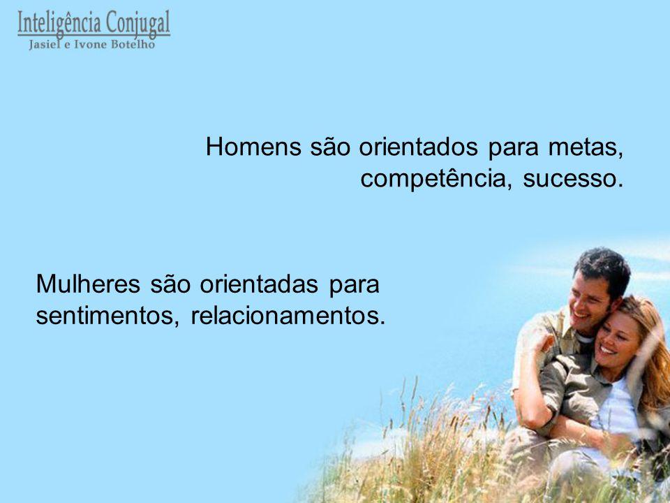 Homens são orientados para metas, competência, sucesso.