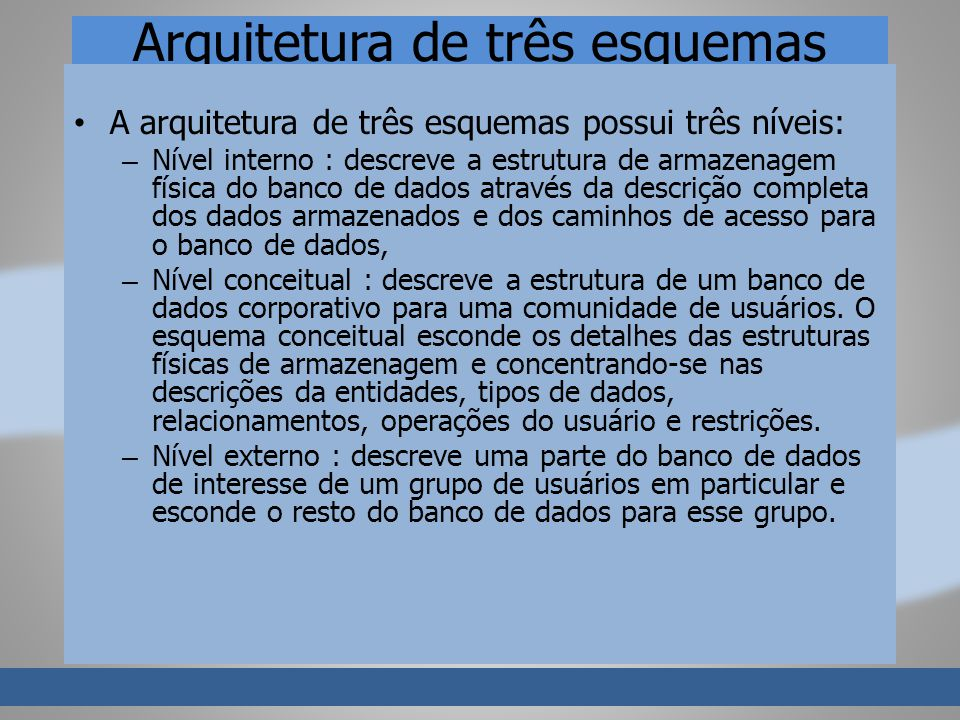 Arquitetura de três esquemas