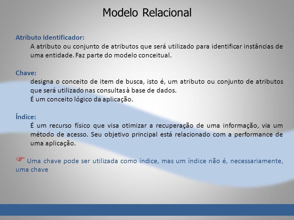 Modelo Relacional Atributo Identificador: