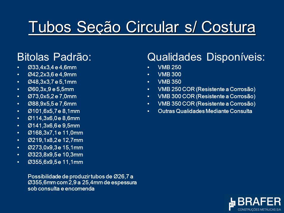 Tubos Seção Circular s/ Costura