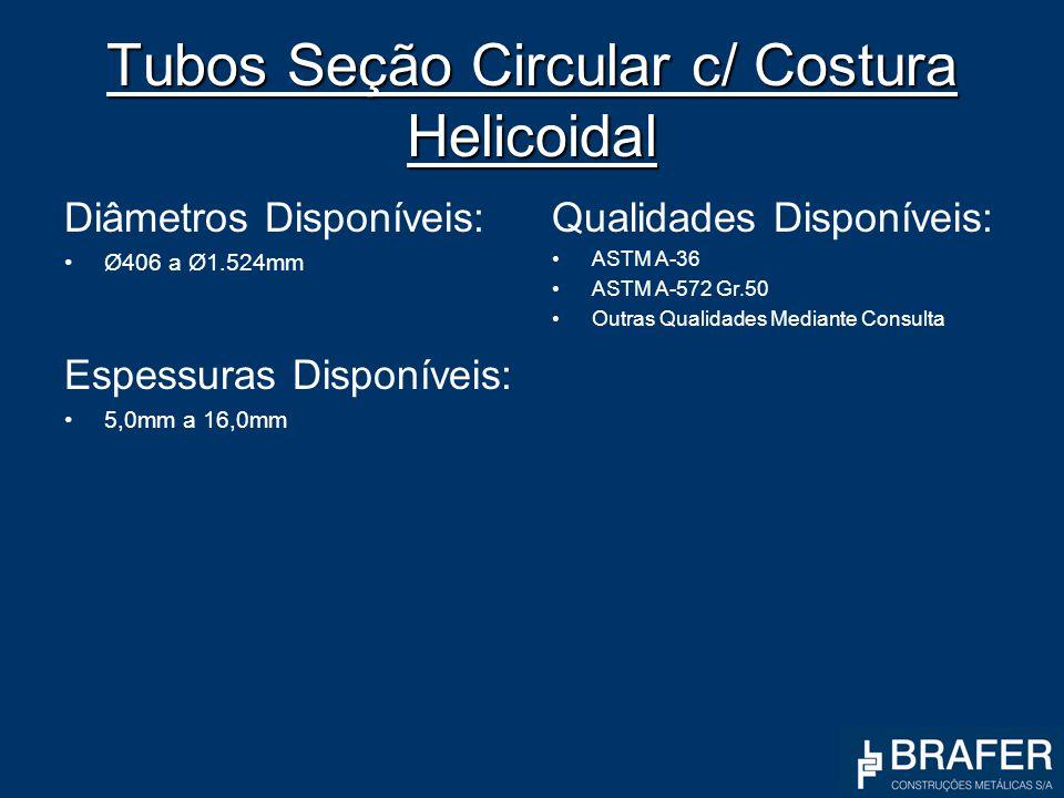 Tubos Seção Circular c/ Costura Helicoidal