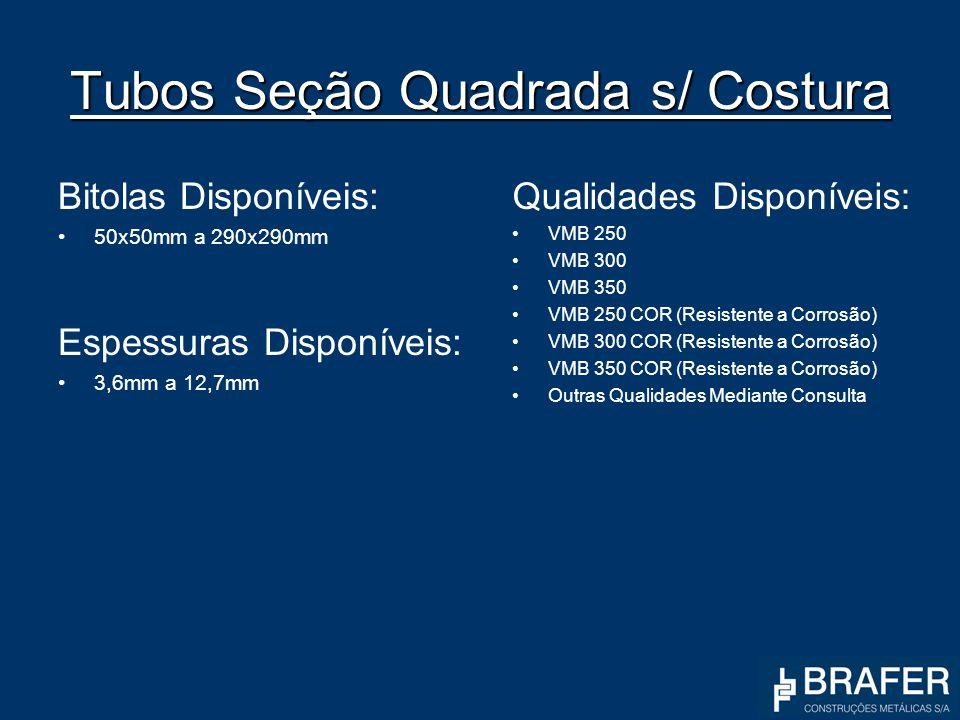 Tubos Seção Quadrada s/ Costura