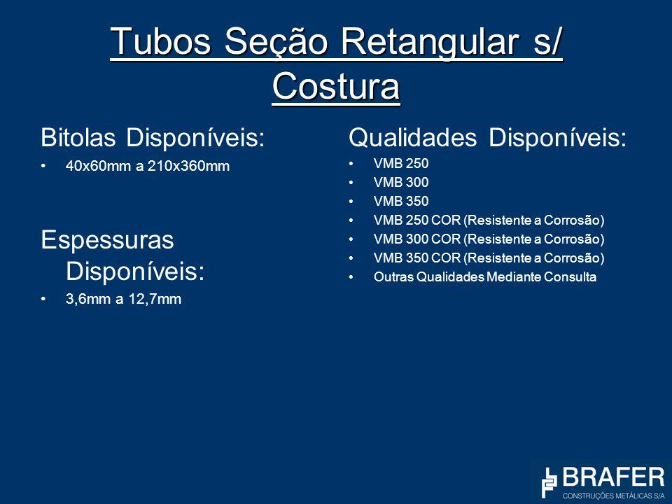 Tubos Seção Retangular s/ Costura