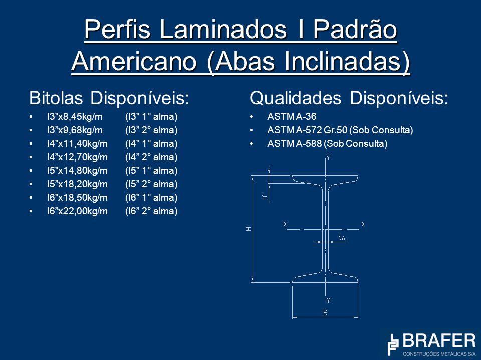 Perfis Laminados I Padrão Americano (Abas Inclinadas)
