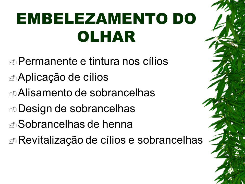 EMBELEZAMENTO DO OLHAR