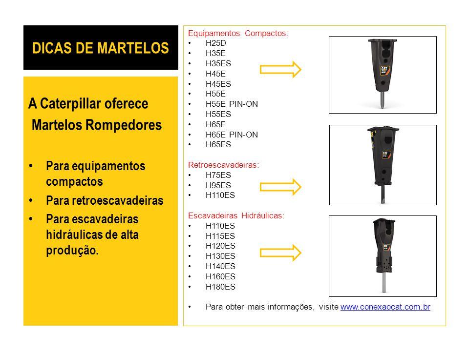 DICAS DE MARTELOS A Caterpillar oferece Martelos Rompedores