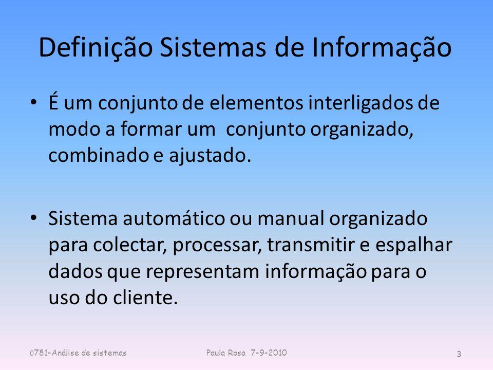 Definição Sistemas de Informação