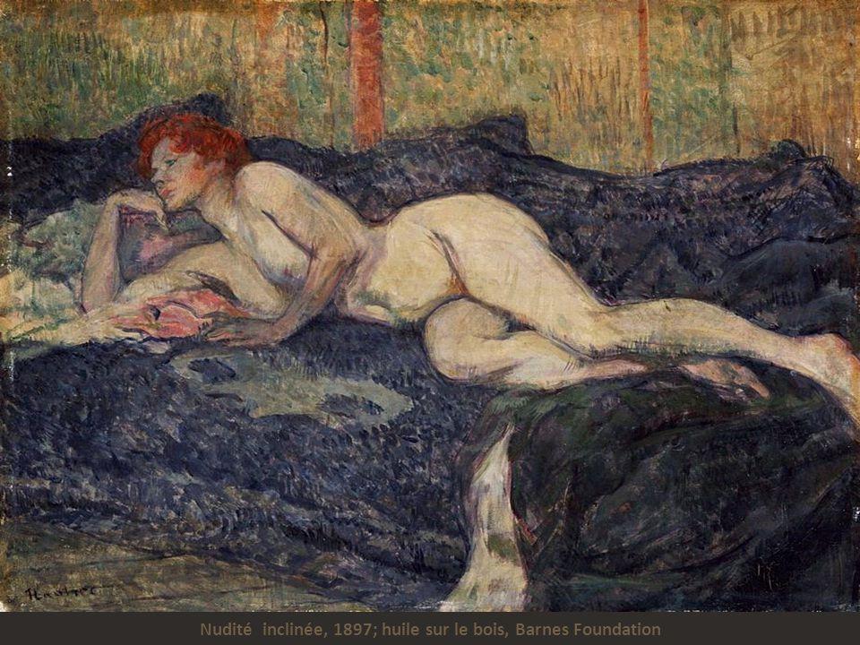 Nudité inclinée, 1897; huile sur le bois, Barnes Foundation