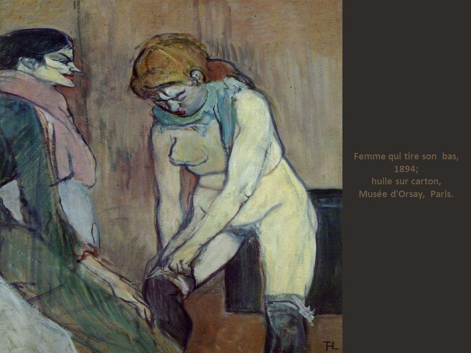 Femme qui tire son bas, 1894; huile sur carton, Musée d Orsay, Paris.