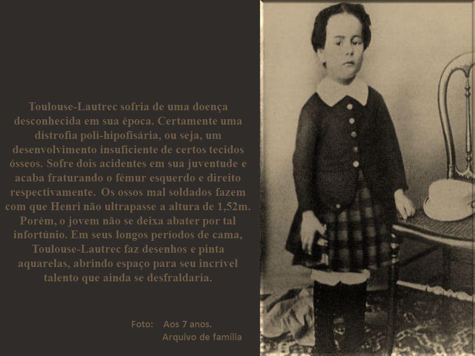 Toulouse-Lautrec sofria de uma doença desconhecida em sua época