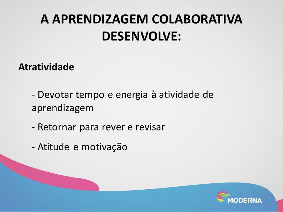 A aprendizagem colaborativa desenvolve: