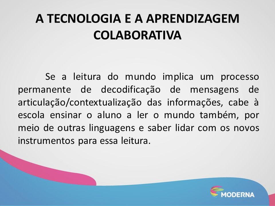 A tecnologia e a aprendizagem colaborativa