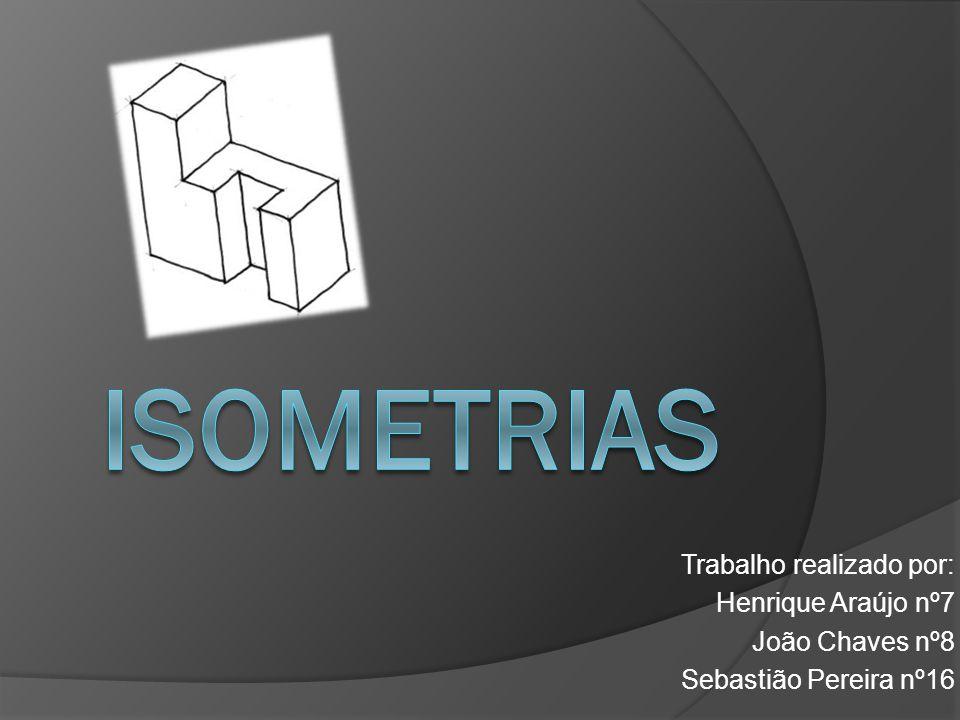 Isometrias Trabalho realizado por: Henrique Araújo nº7 João Chaves nº8