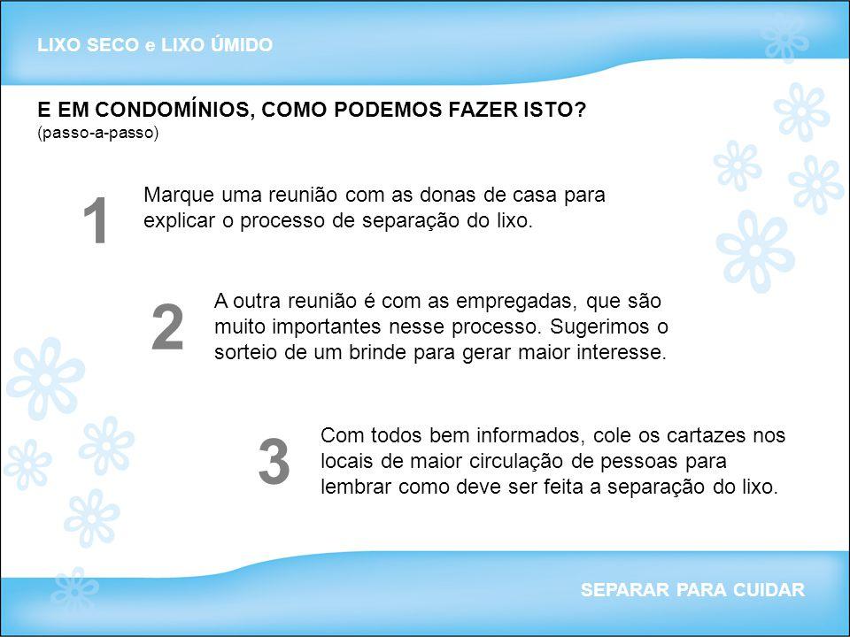 1 2 3 E EM CONDOMÍNIOS, COMO PODEMOS FAZER ISTO (passo-a-passo)
