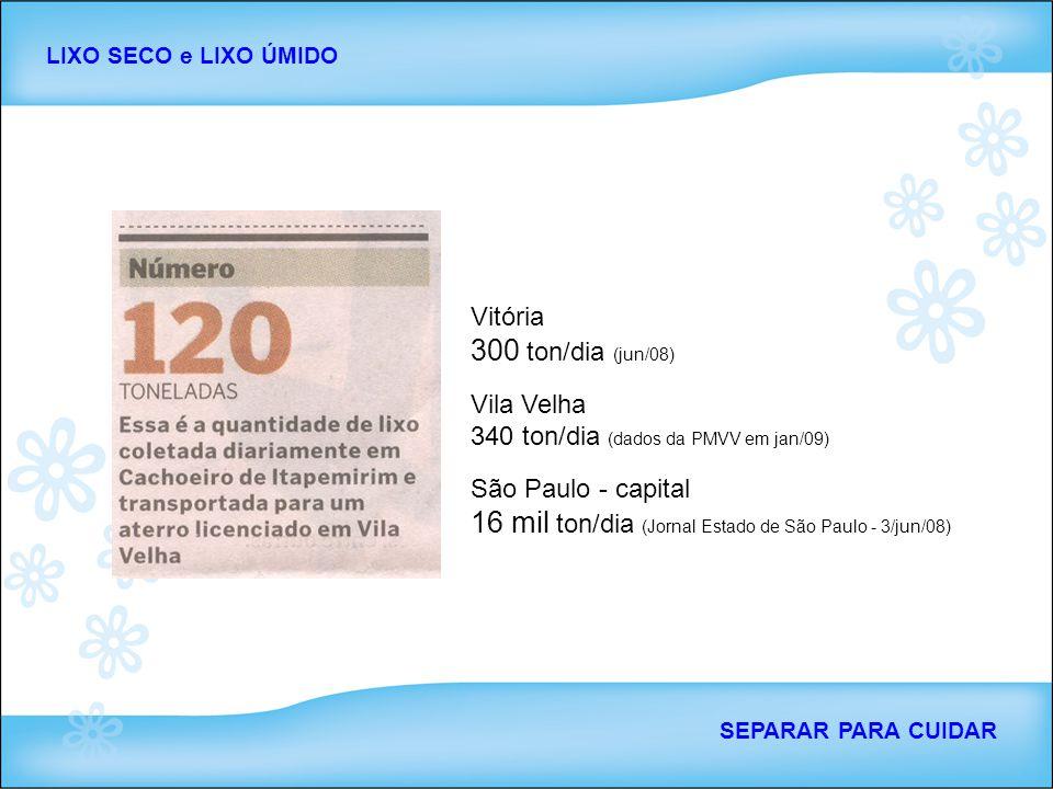 16 mil ton/dia (Jornal Estado de São Paulo - 3/jun/08)