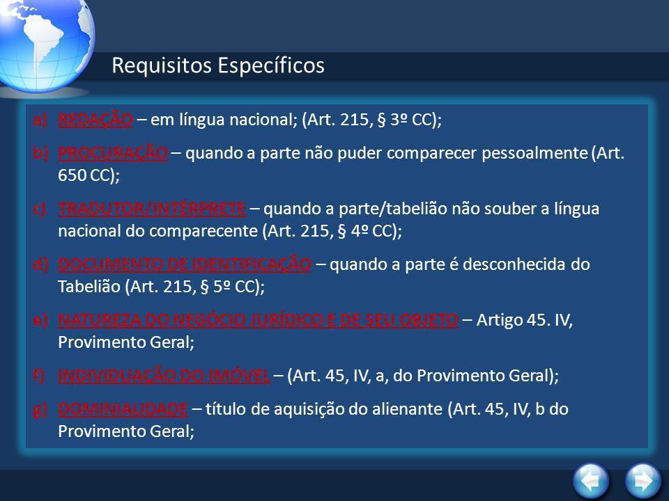 Requisitos Específicos