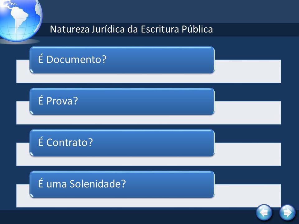 Natureza Jurídica da Escritura Pública