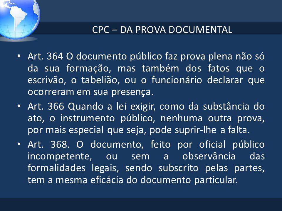 CPC – DA PROVA DOCUMENTAL