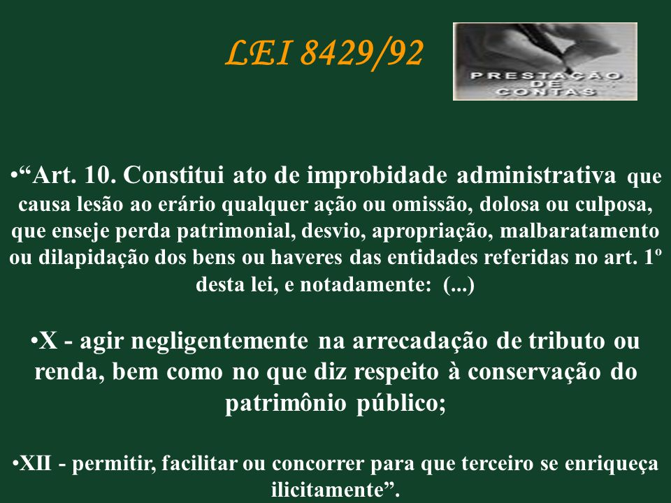 LEI 8429/92